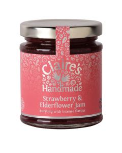 Claires Strawberry and Elderflower Jam 227g