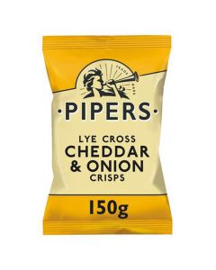 Pipers Cheddar and Onions Crisps 150g