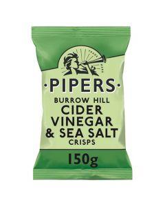 Pipers Cider Vinegar and Sea Salt Crisps 150g