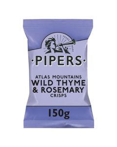 Pipers Thyme And Rosemary Crisps 150g
