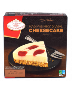 Coppenrath and Wiese Raspberry Swirl Cheesecake 500g
