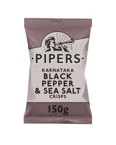 Pipers Black Pepper and Sea Salt Crisps 150g