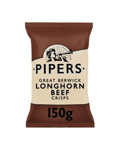 Pipers Beef Longhorn Crisps 150g