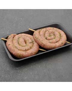 2 Garlic Sausage Curls 350g