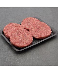 4 Beef Burgers 450g