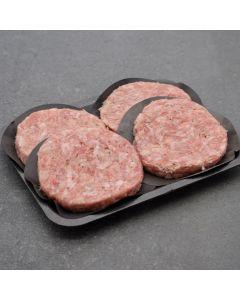 4 Pork & Apple Burgers 450g